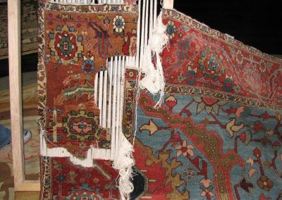Serapi – Step One – Rug Restoration