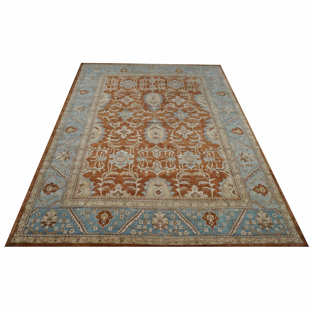 Picture of: Area Rugs By Ashly Fine Rugs 9 X 12 Wool Sultanabad Rust