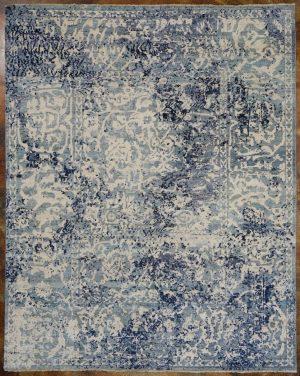 Blue handmade area rug