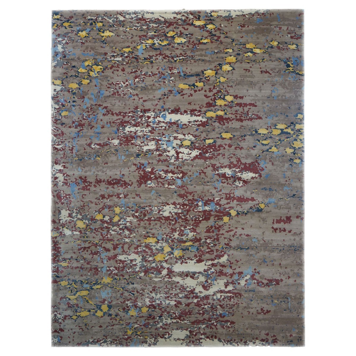 Area Rugs: Modern Contemporary Wool And Silk 9 X 12 Brown