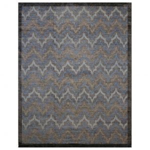 8 x 10 Wool and Silk Handmade Area Rug