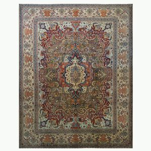 Antique Tabriz Area Rug 10 x 14 Ashly Fine Rugs
