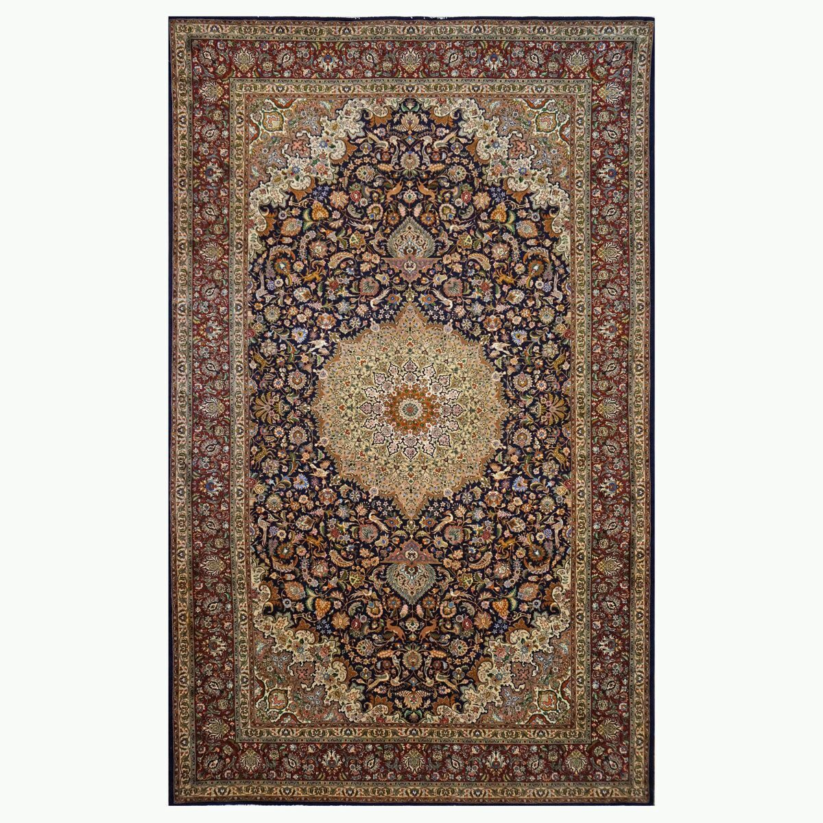 1143508 10 x 14 Antique Tabriz Wool Red by Ashly Fine Rugs
